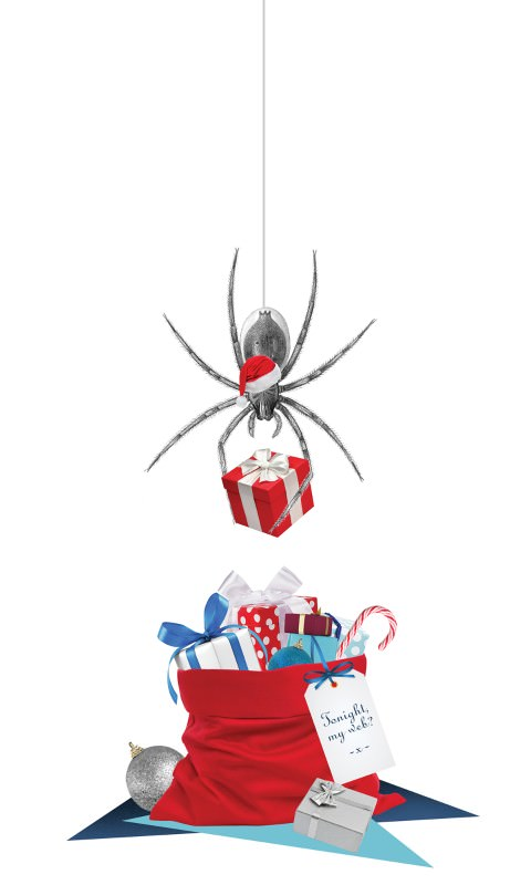Spider Santa: Nicer gift-wrap, better sex