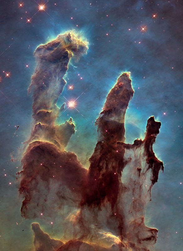 Hubble's new view of iconic 'Pillars of Creation'