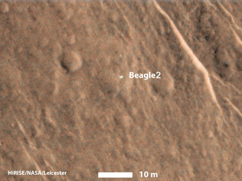 Beagle 2 spotted on Mars in one piece after 11 years