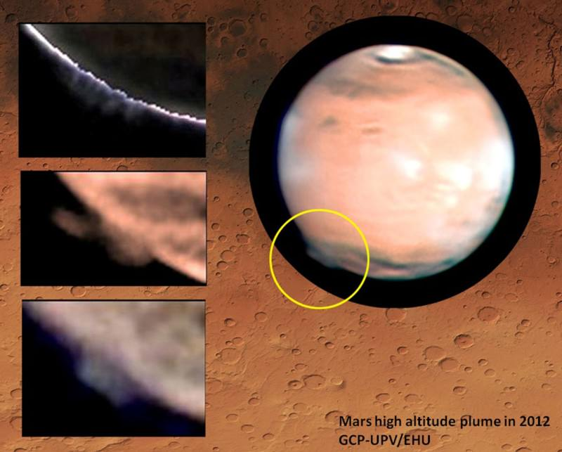 Mystery cloud-like blobs over Mars baffle astronomers