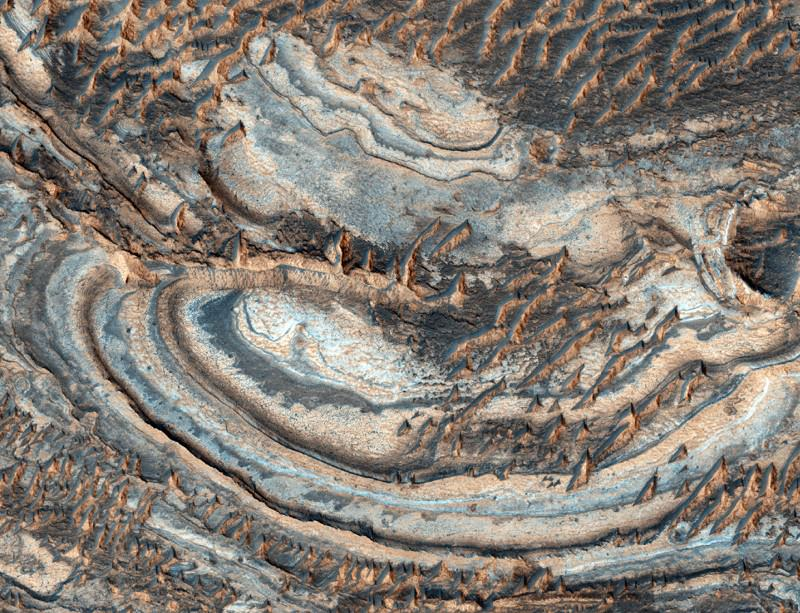 Jarosite: not just a Martian mineral Image:NASA/JPL/University of Arizona)