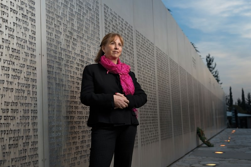 The Wall of Names at the armored corps memorial site in Latrun, Israel