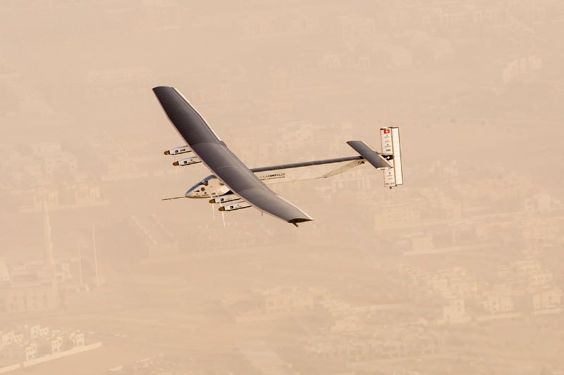 Look, no fuel! Solar-powered flight around world is go
