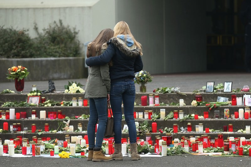 A memorial for the people who died when Germanwings Flight 4U 952 crashed