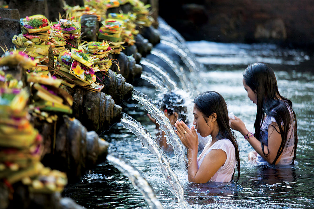 A Balinese Hindu purification ceremony – beliefs are both fundamental and widespread
