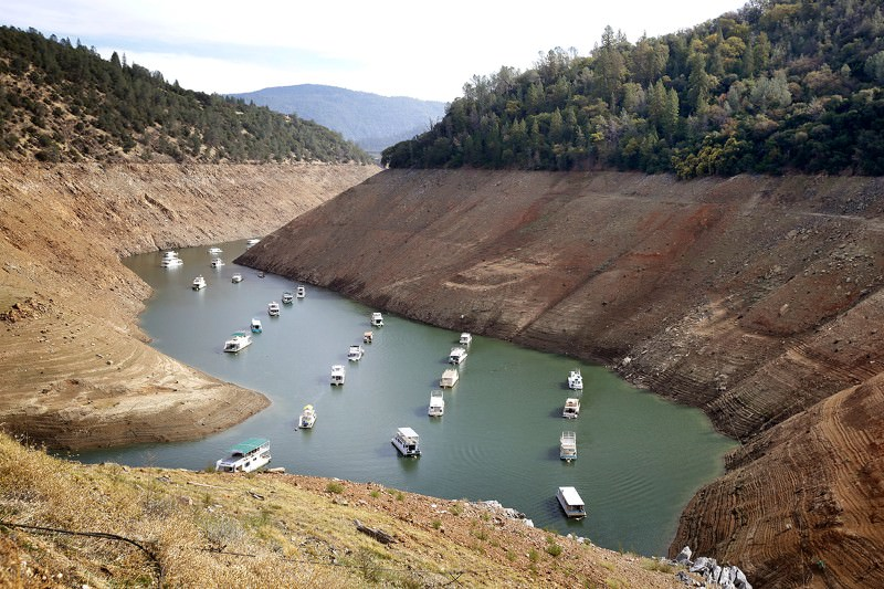 Lake Oroville is getting lower
