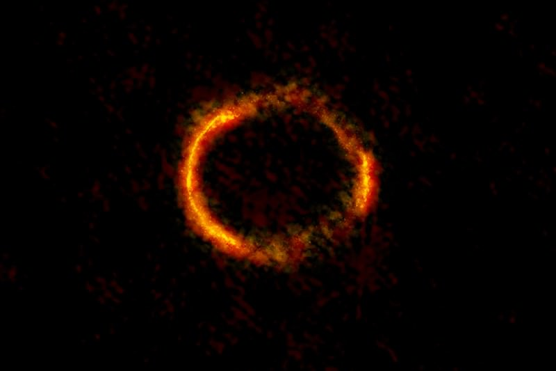 Einstein puts a ring on distant galaxy
