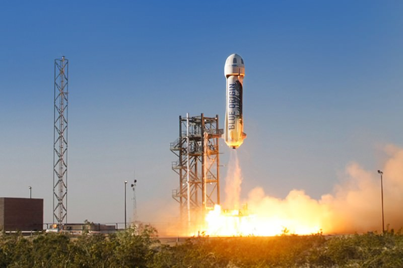 Amazon boss Jeff Bezos just launched a secret rocket to space