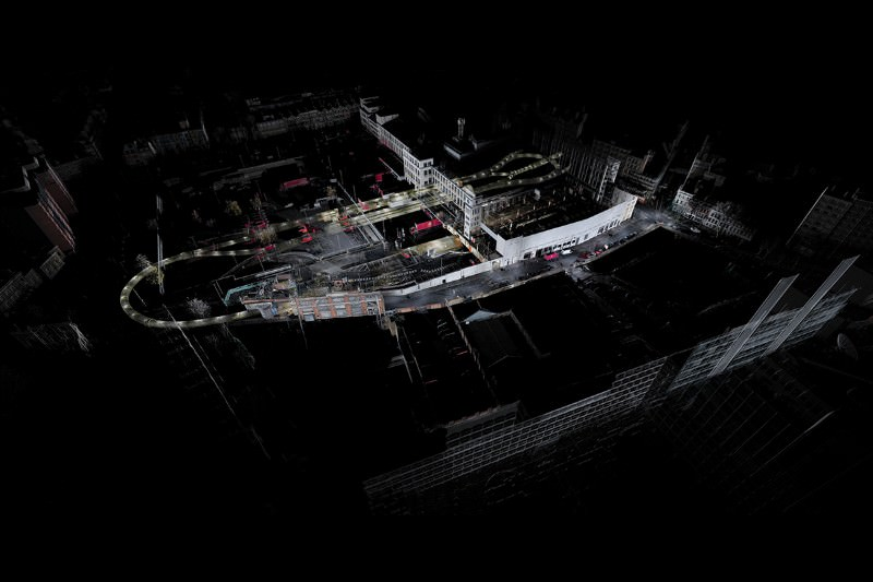 Abandoned underground railway preserved in 3D scan