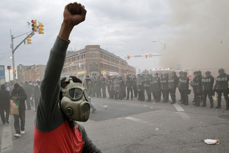 Protests erupted in Baltimore this week after the killing of Freddie Gray