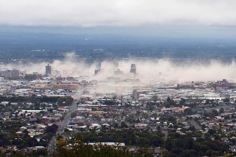Christchurch immediately after the 2011 quake