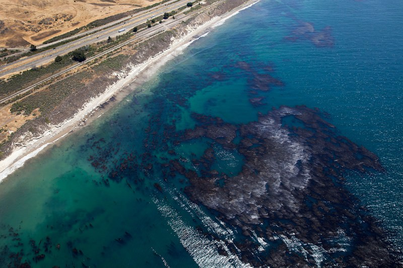 Santa Barbara's oil-slicked waters