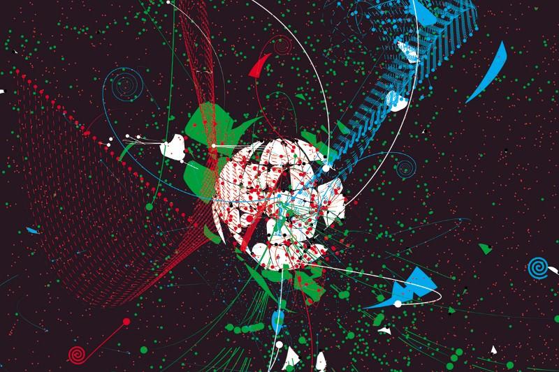 Artistic interpretation of an atomic nucleus