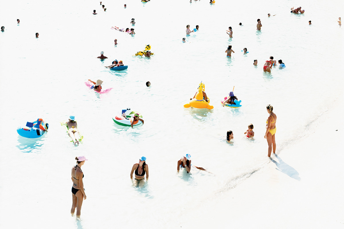 people on a sunny beach
