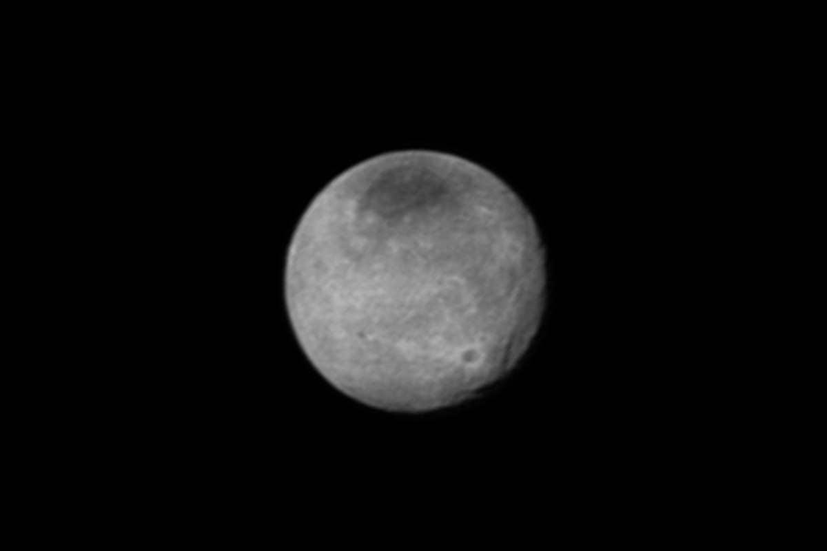 Dark spots, bright craters