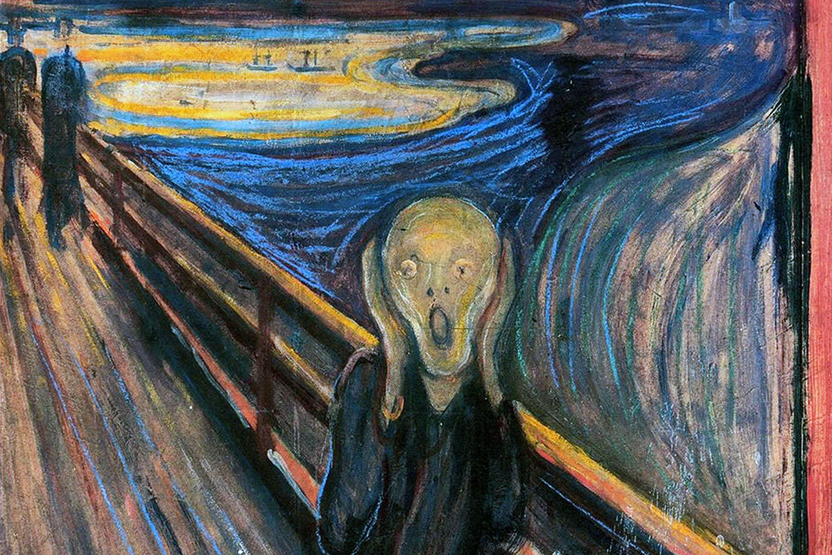 Nothing says anguish like a scream, as Edvard Munch knew
