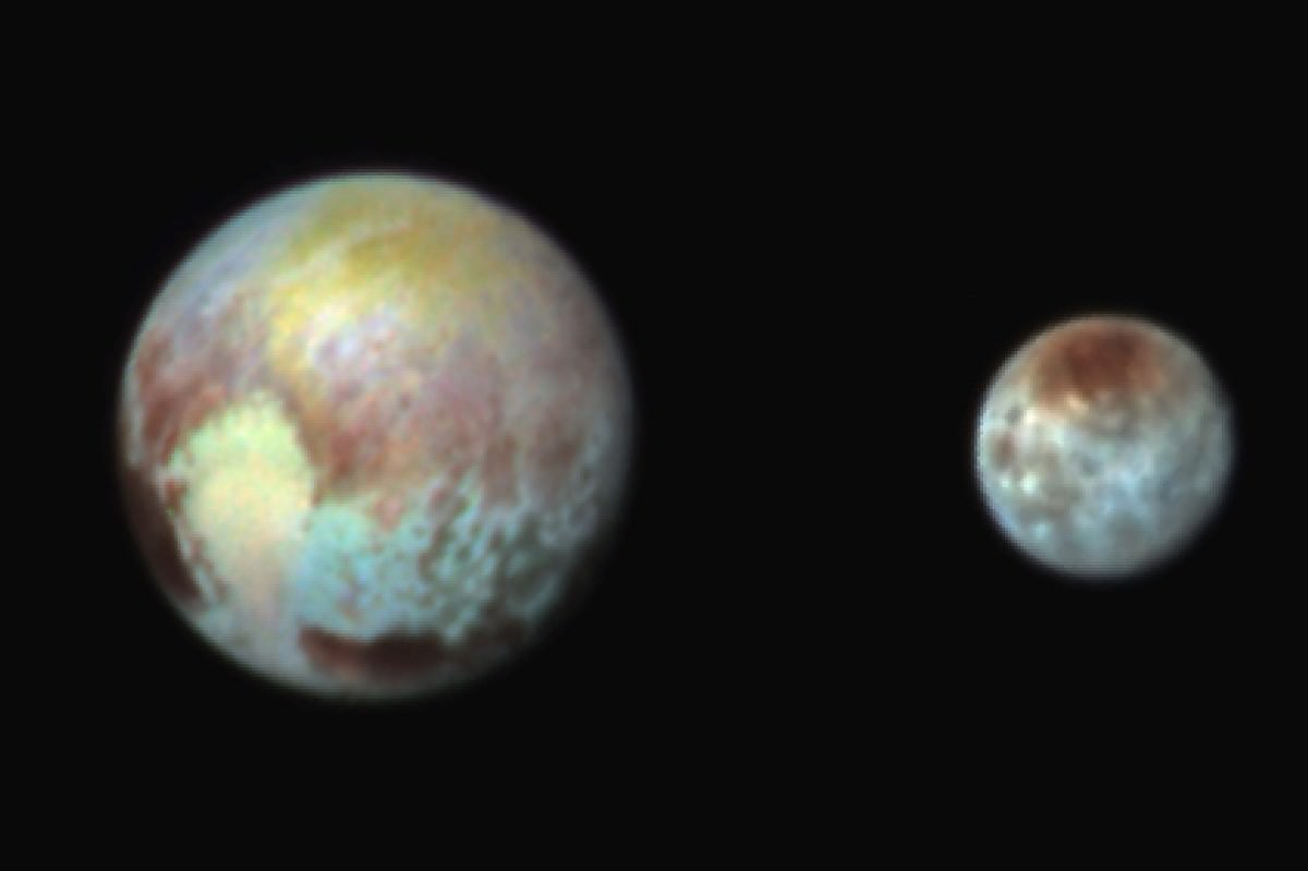 Pluto has a two-toned heart