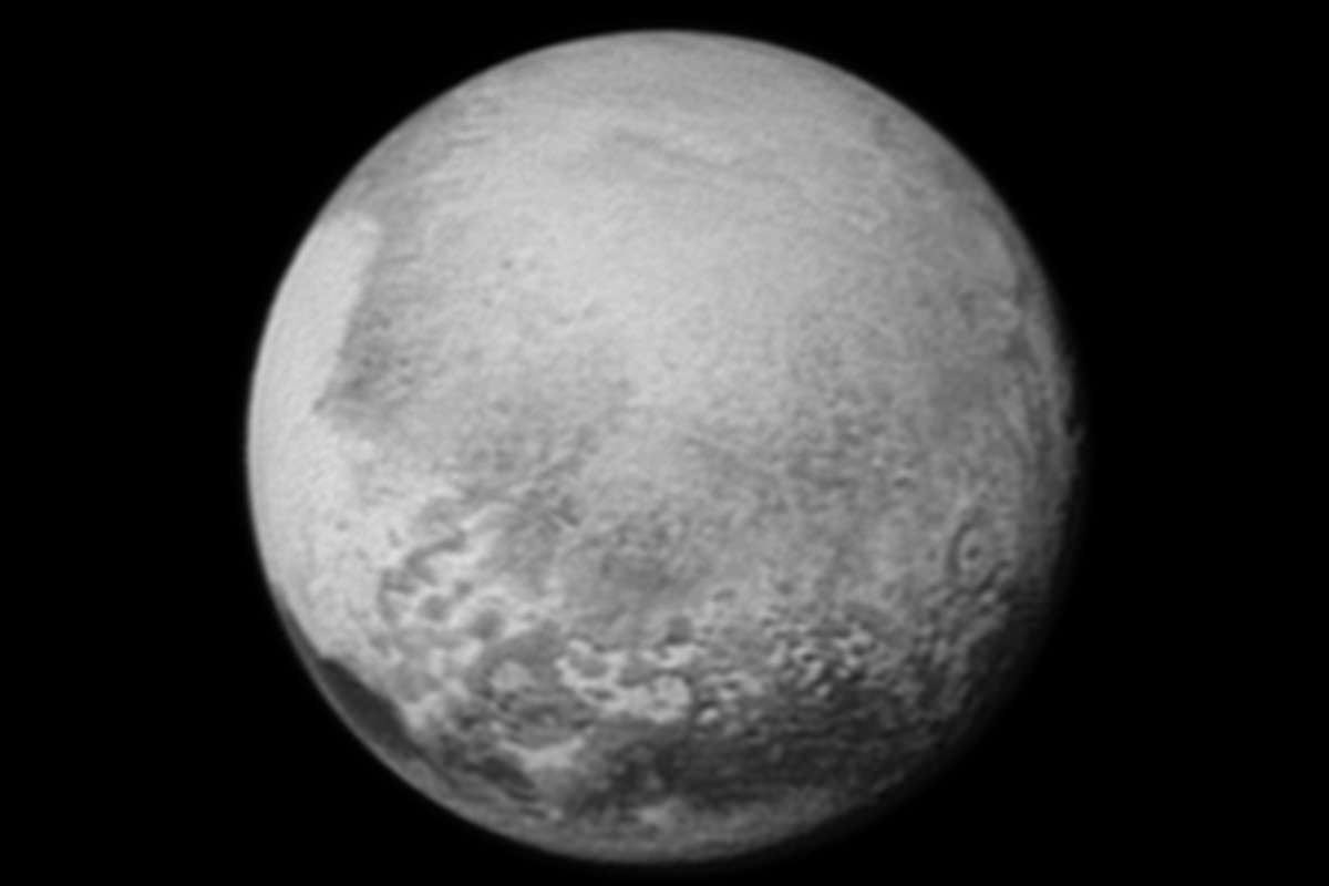 Coming into focus: Pluto on Sunday