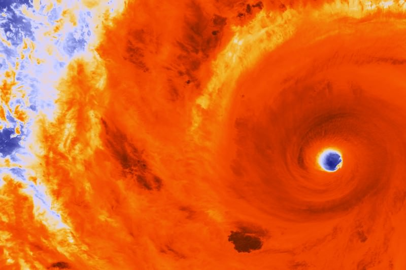 Infrared view of super-typhoon Soudelor as it heads for Taiwan