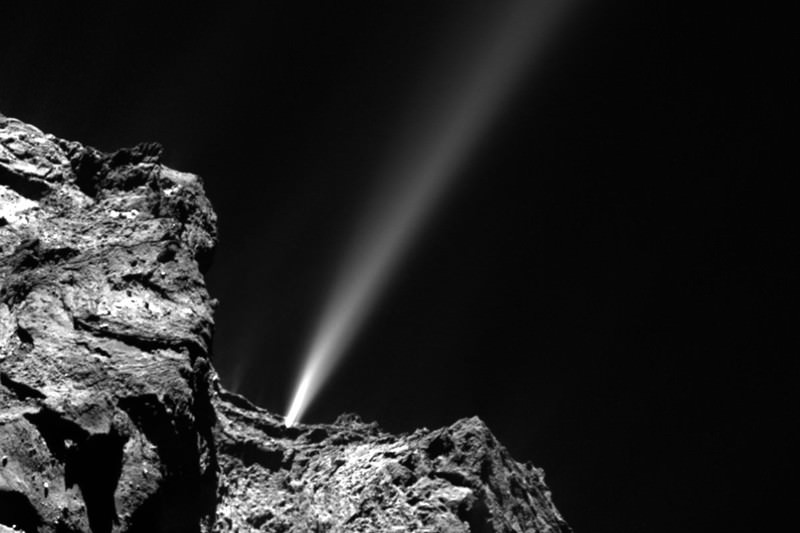 Rosetta sees sparks as comet 67P reaches closest approach to sun
