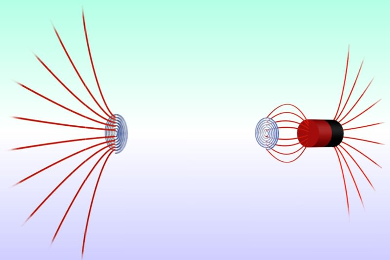 Metamaterial wormhole teleports magnetic fields across space