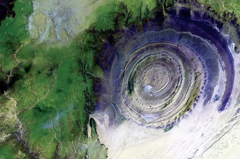 The Sahara desert has a giant eye and it's staring out to ...