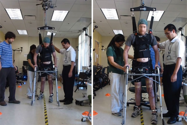 Paralysed man uses mind control to walk again