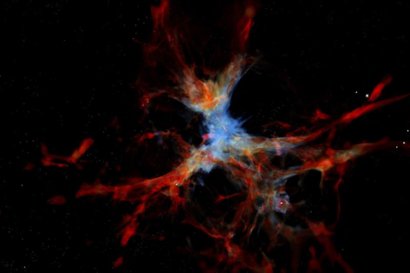 Spider galaxies spotted eating gas caught in the cosmic web