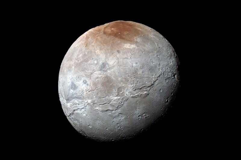 Craters and canyons hint at violent past of Pluto's moon Charon