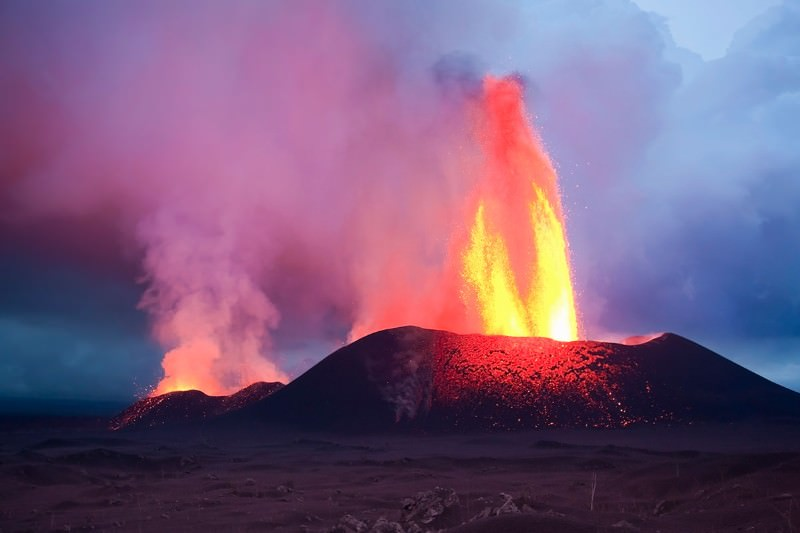 Volcanic eruptions have extreme effect on the flow of rivers