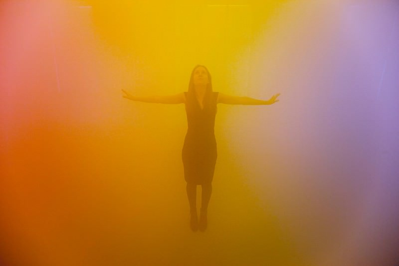 Ann Veronica Janssen's room of fog bumps you through the rainbow