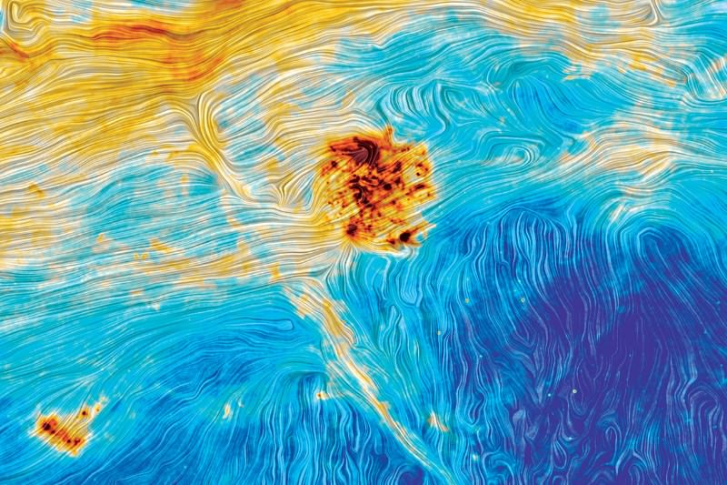 The Large Magellanic Cloud, if van Gogh had painted it