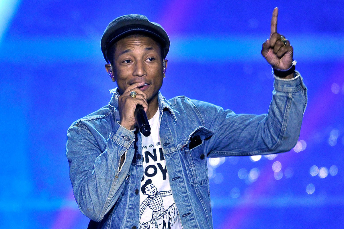 Pharrell williams performed at the Breakthrough Awards