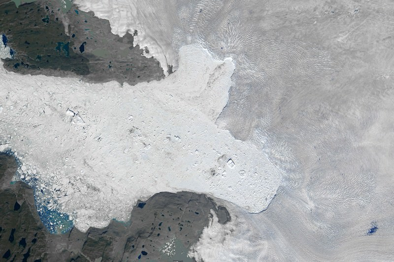 Destabilised glacier is speeding up and draining more ice from Greenland