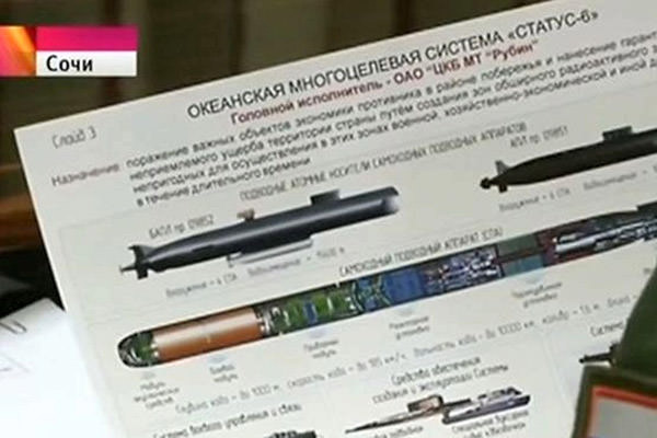 Is Russia building an underwater drone to deliver a dirty bomb?