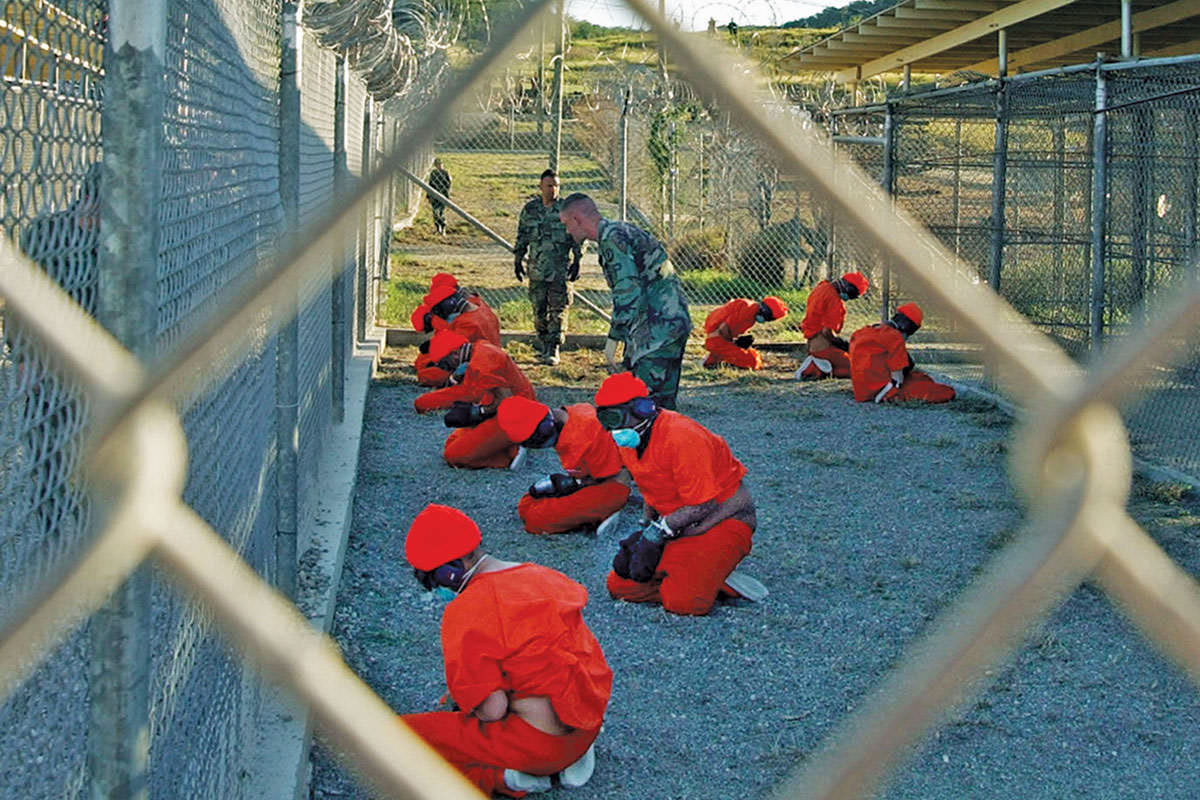 "Guantanamo Bay, Cuba, where detainees are ""quarantined"""