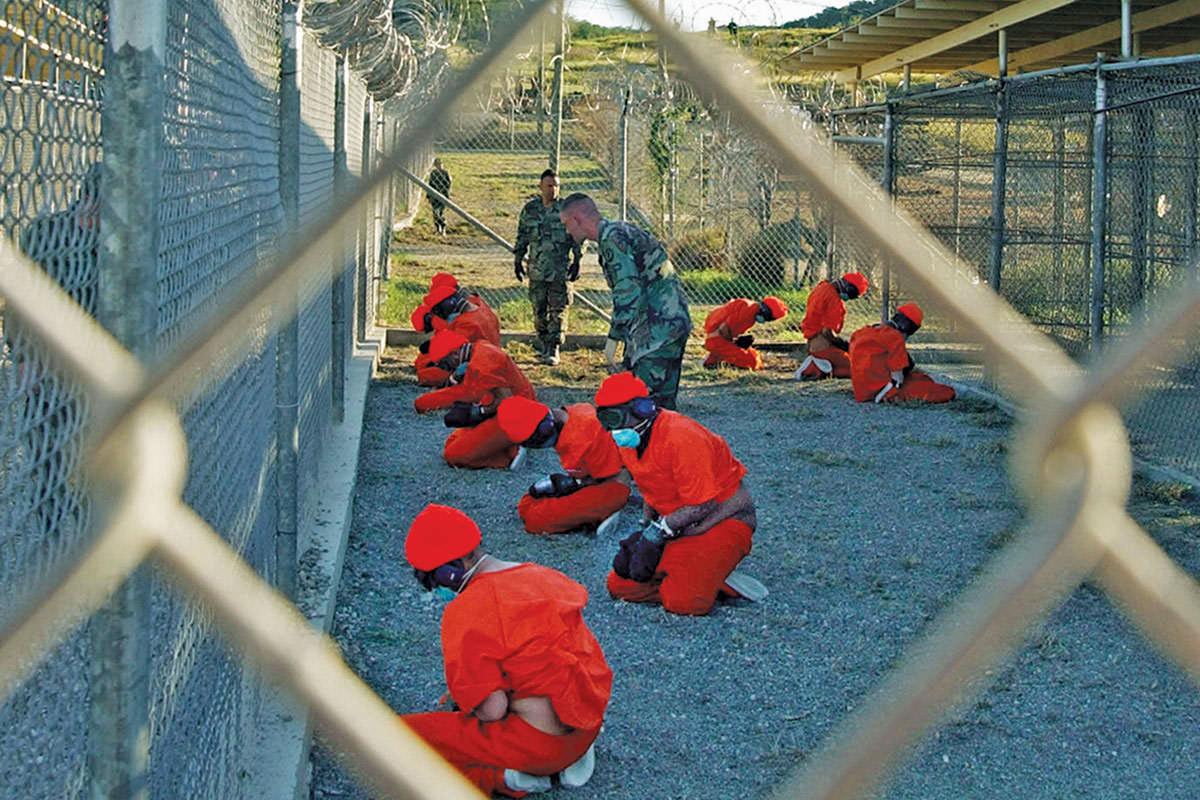 "Guantanamo Bay, Cuba, where detainees are ""quarantined"""