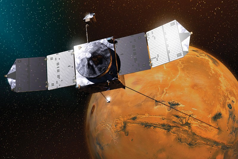 NASA probe shows how solar burps may have stripped Mars of water
