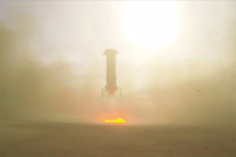 Watch Blue Origin's surprise rocket launch and safe landing