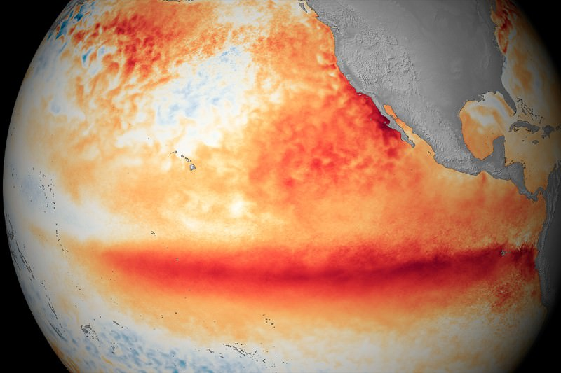 Massive El Niño sweeping globe is now the biggest ever recorded