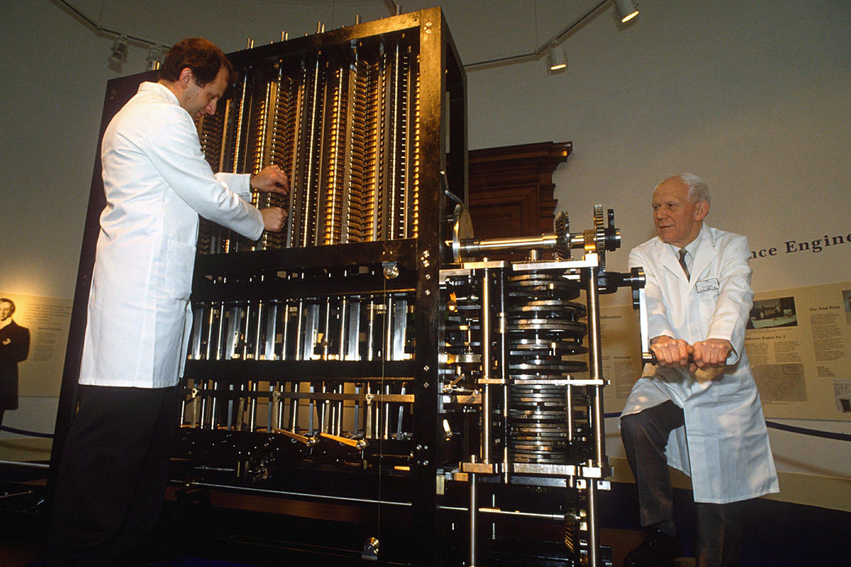 Charles Babbage's Difference Engine No. 2, definitely not a barrel organ
