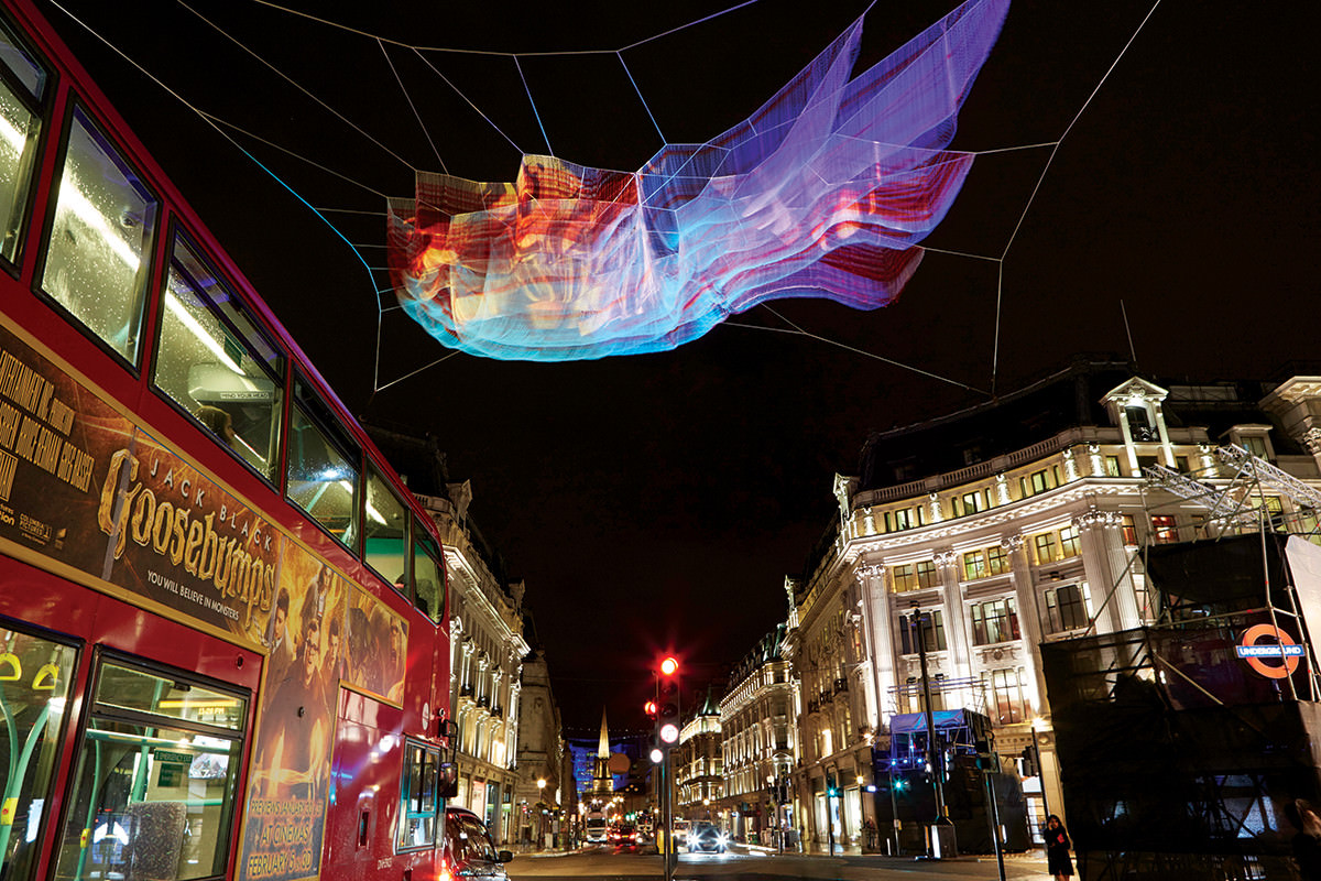 Giant luminescent fish stole London's latest light show