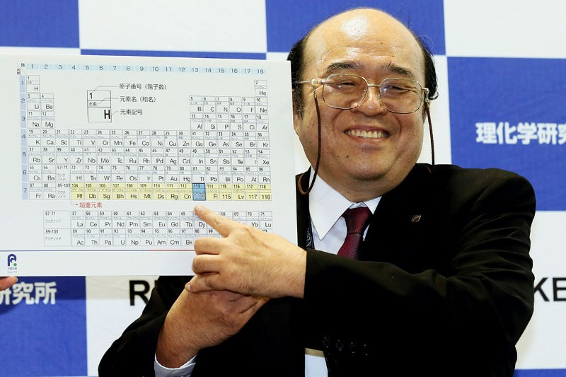 Four new elements complete the seventh row of the periodic table