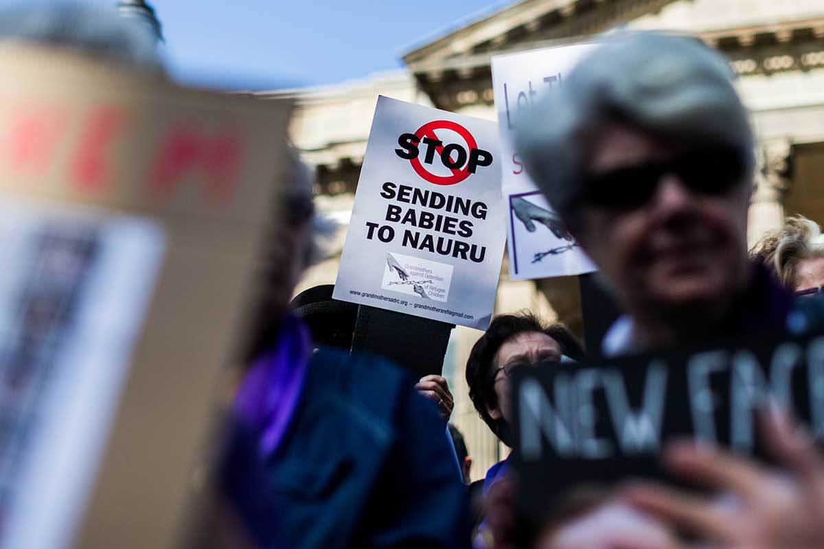 Protestors gather in Australia over government's stance on asylum seekers