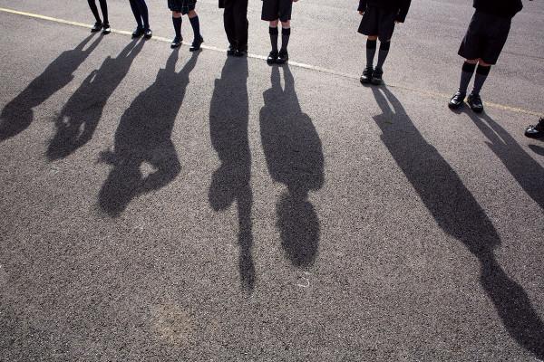 Children shadow playground