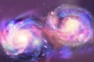two galaxies