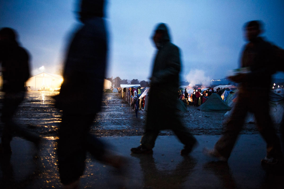 Conditions at the border camp in Idomeni, northern Greece, are desperate