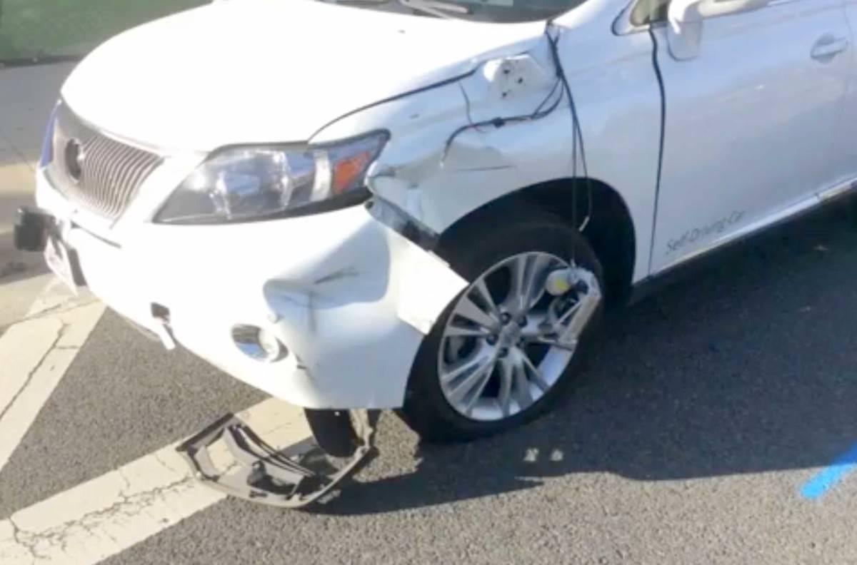 Dented self-driving car