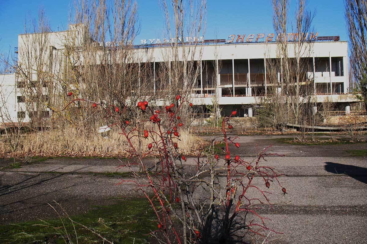 Disused buildings in Pripyat square