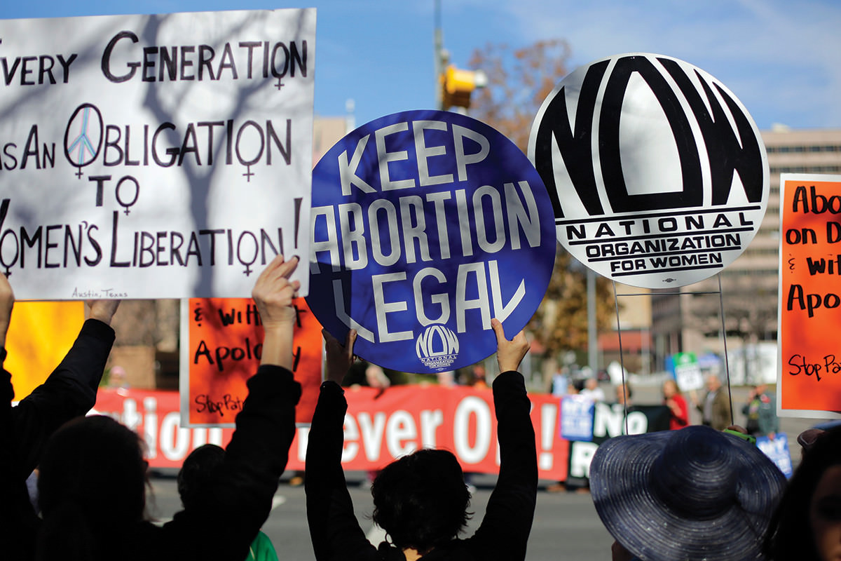Protestors demonstrate to keep abortion clinics open